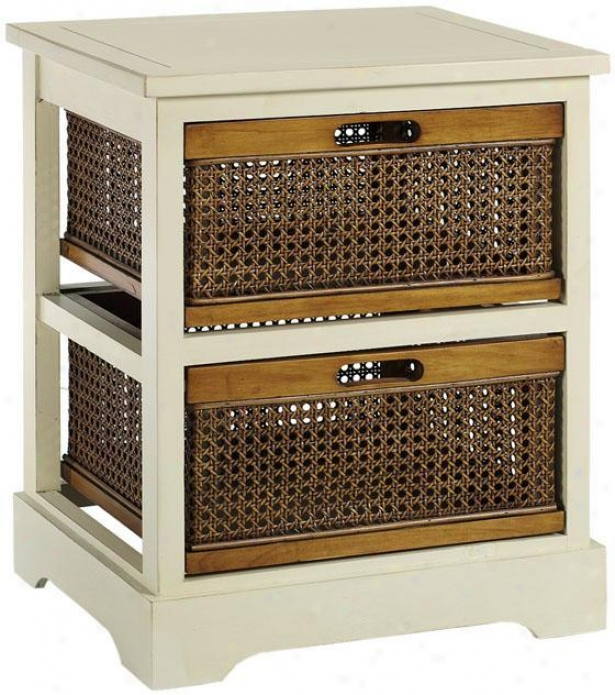 Normandy Single Chest - 2-dawer, White