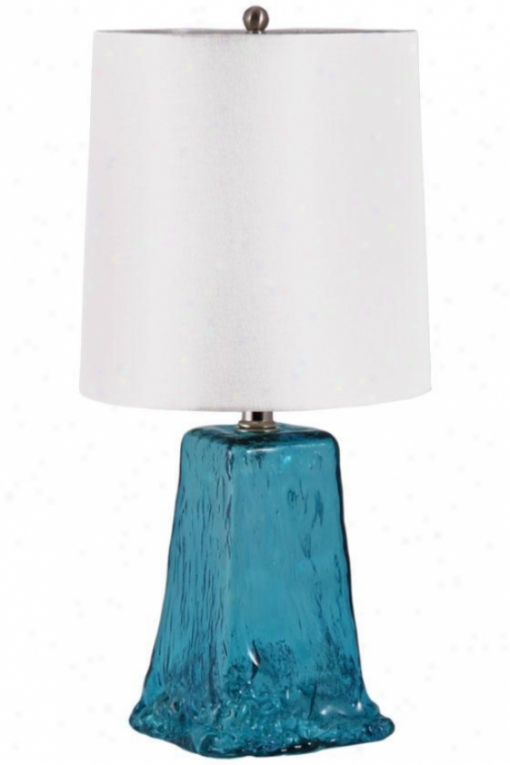 """normandy Tablr Lamp - 20""""hx10""""d, Blue"""