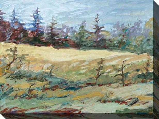 """north Mead Canvas Wall A5t - 48""""hx36""""w, Green"""