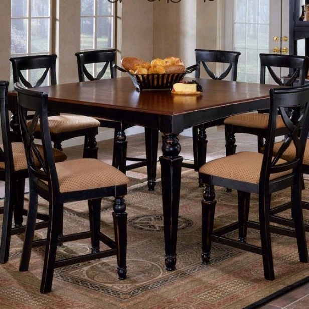 Northern Heights Counter Dining Table - Cherry, Black