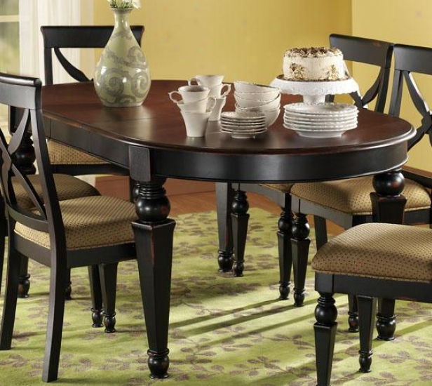 North Heights Dining Table - Cherry, Black