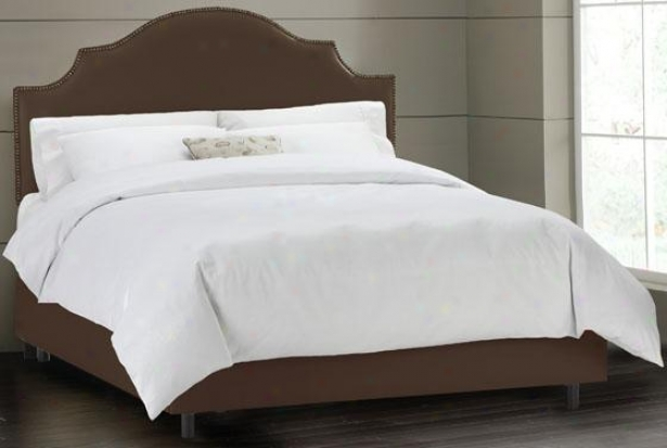 Notched With Nail Heads Bed - Twin, Shantung Chclt