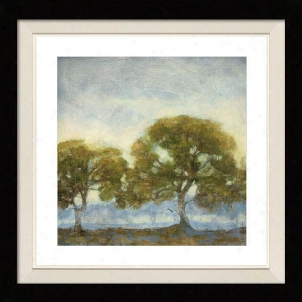 Oaks In The Mist Framed Wall Art - I, Floated Black