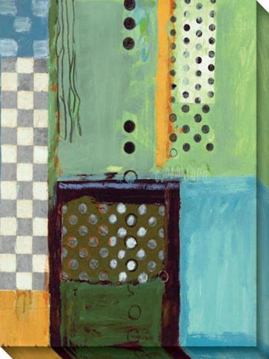 Ocan Ii Canvas Wall Art - Ii, Blue