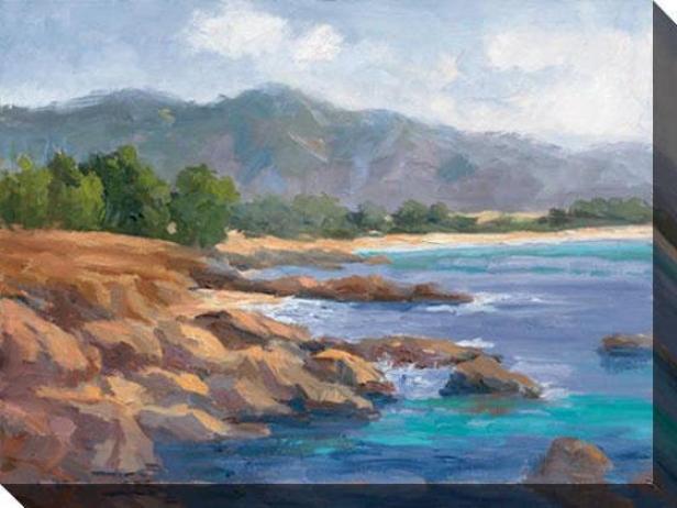 Ocean View Ii Canvas Wall Art - Ii, Blue