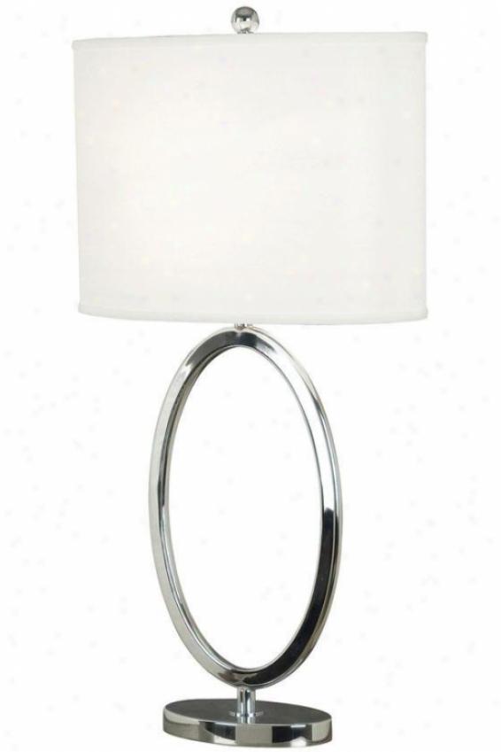 """oke Table Lamp - 31""""h, Silver Chrome"""