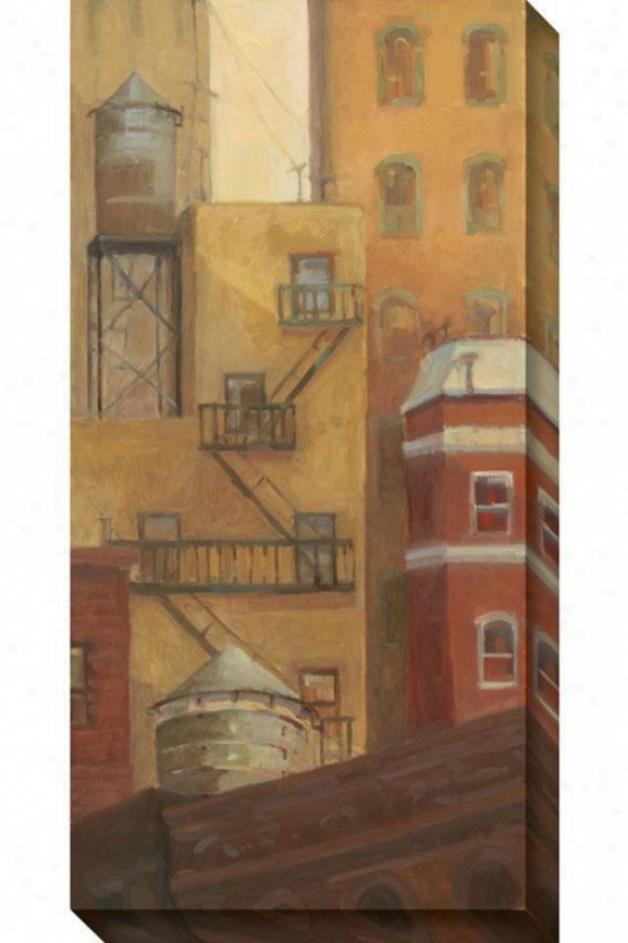 Old Town I Canvas Wall Art - I, Earthtones