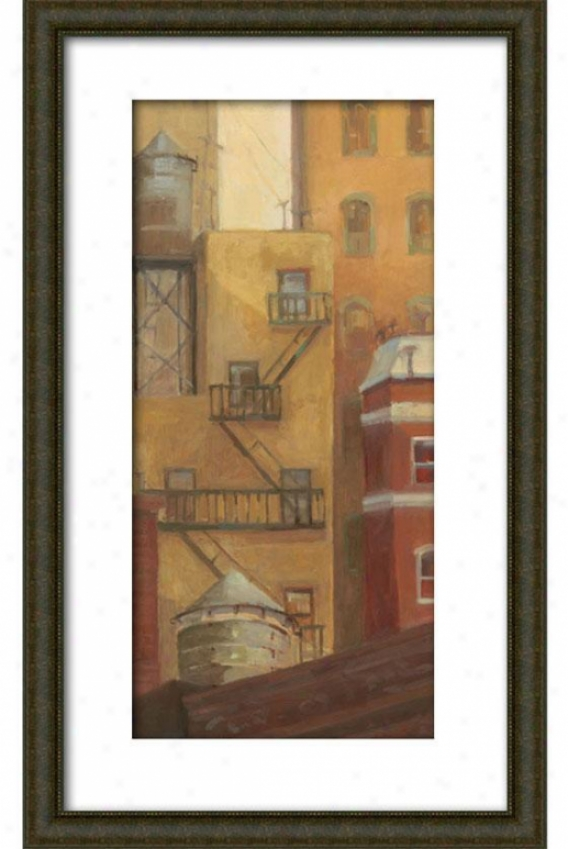 Old Town I Framed Wall Art - I, Matted Bulwood
