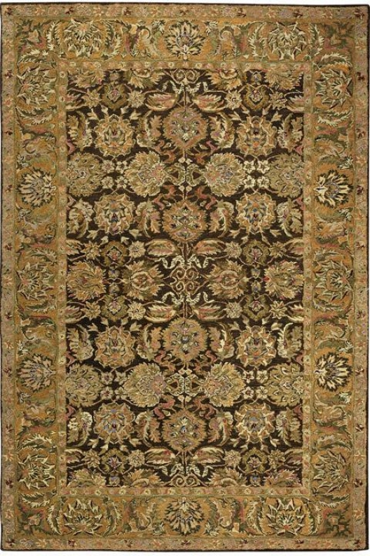 """old World Area Rug - 2'3""""x8'runner, Mocha/gold"""