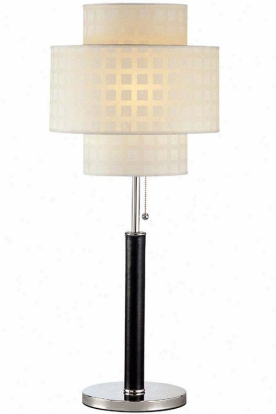 """olina Table Lamp - 31""""hx13""""d, Black"""