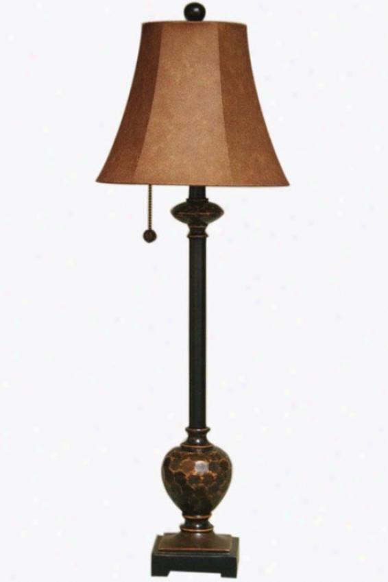 """olivia Bufffet Lamp - 11""""wx11""""dx35""""h, Bronze W/copper"""
