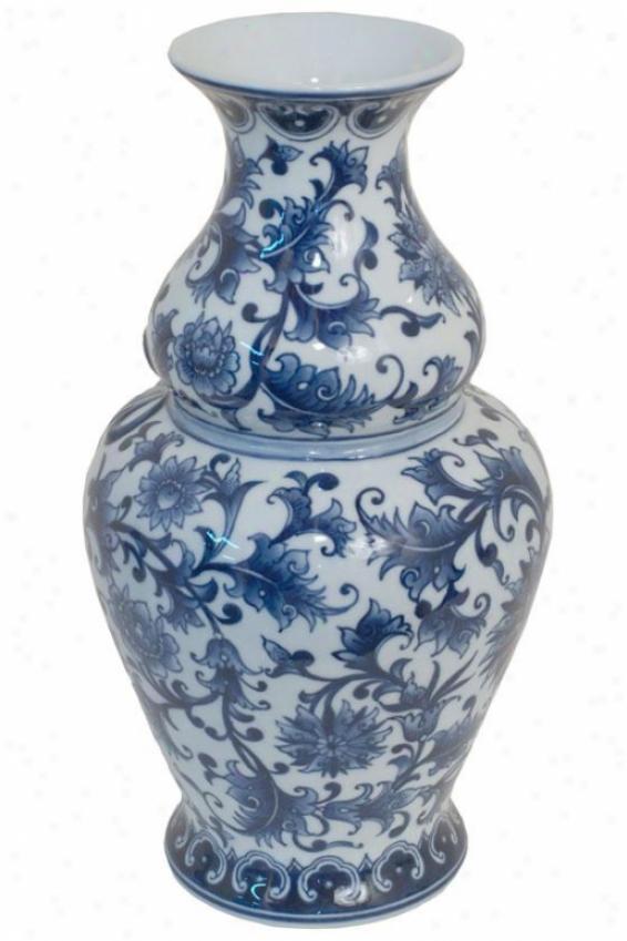 """olivia Ceramic Pottery - 14""""""hx8""""round, Blue"""