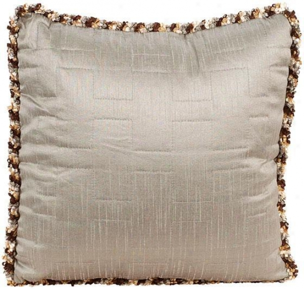 """""""olivia Pillow - 18"""""""" Square, Chocolate Brown"""""""