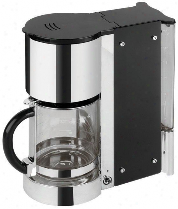 Onyx Coffee Maker - 14hx6wx11d, Blaco/stainless