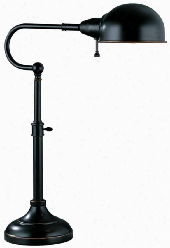 """""""o'pa Dezk Lamp - 22.5""""""""hx16""""""""w, Bronze"""""""