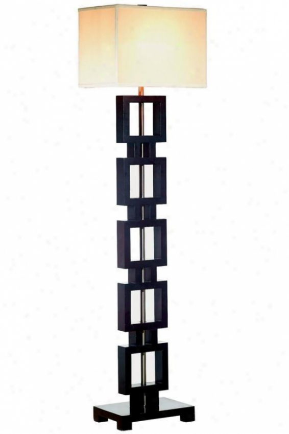 """opex Floor Lamp Ii - 58""""h, Black"""