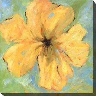 Opulence Ii Canvas Wall Art - Ii, Yellow