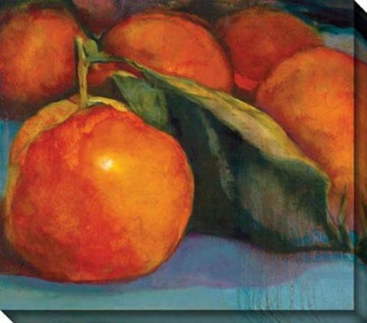 """irange Glow Canva sWall Art - 42""""hx36""""w, Orange/blue"""