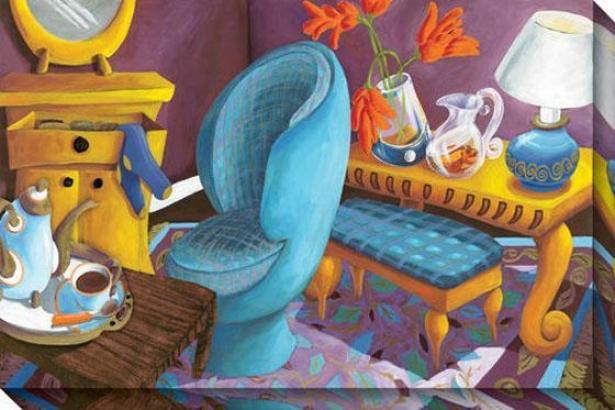 """orange Lillies Canvas Wall Art - 48""""hx32""""w, Multi"""
