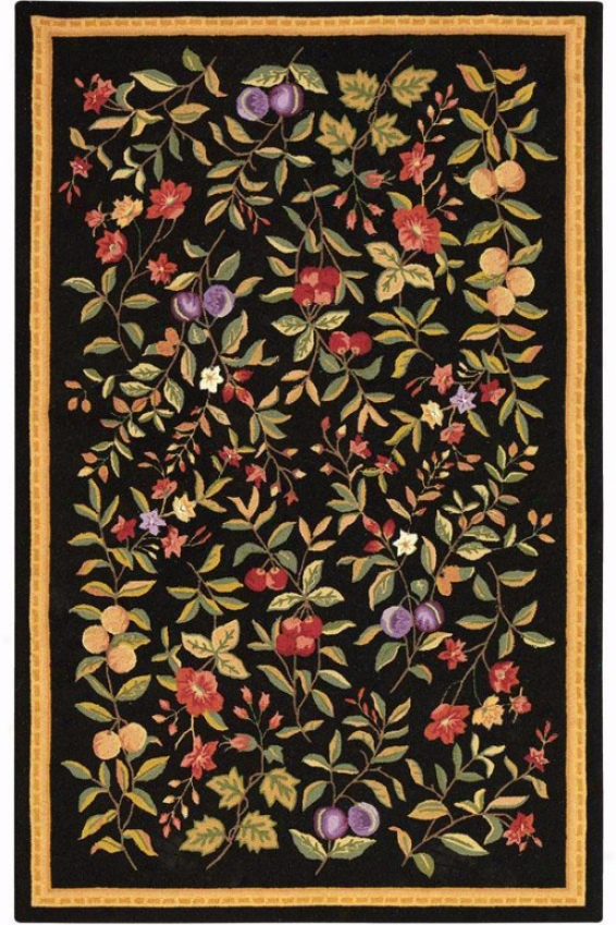 Orchard Area Rug - 4' Round, Black