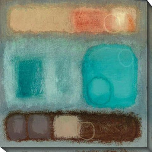 Organic I Canvas Wall Art - I, Blue