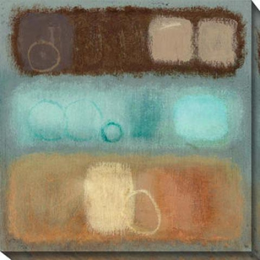 Organic Ii Canvas Wall Art - Ii, Blue