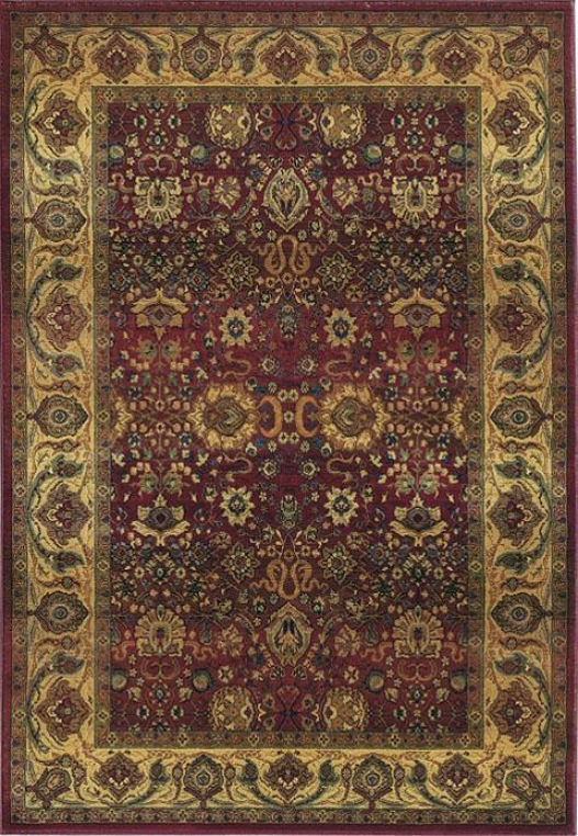 Oriental Weavers Exhilaration Area Rug - 10'round, Burgundy