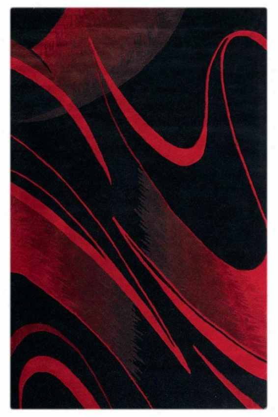 """oriental Weavers Graffiti Area Rug - 7'9"""" Round, Red"""