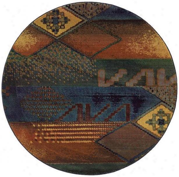 Oriental Weavers Inhabit  Area Rug - 8' Round, Multi