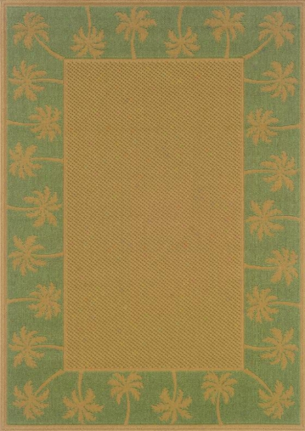 """oriental Weavers Palm Ii Area Rug - 7'3"""" Square, Verdant"""