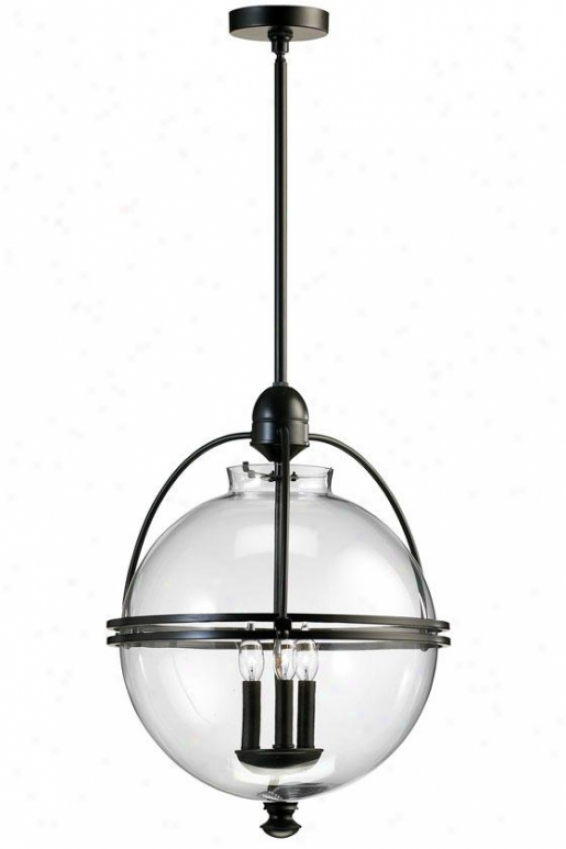 Ornamental Pendant - 3-light, Long-cultivated World Fnsh
