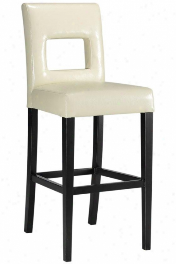 """oscar Bar Stool - 45.5""""hx18.5""""w, Cream"""