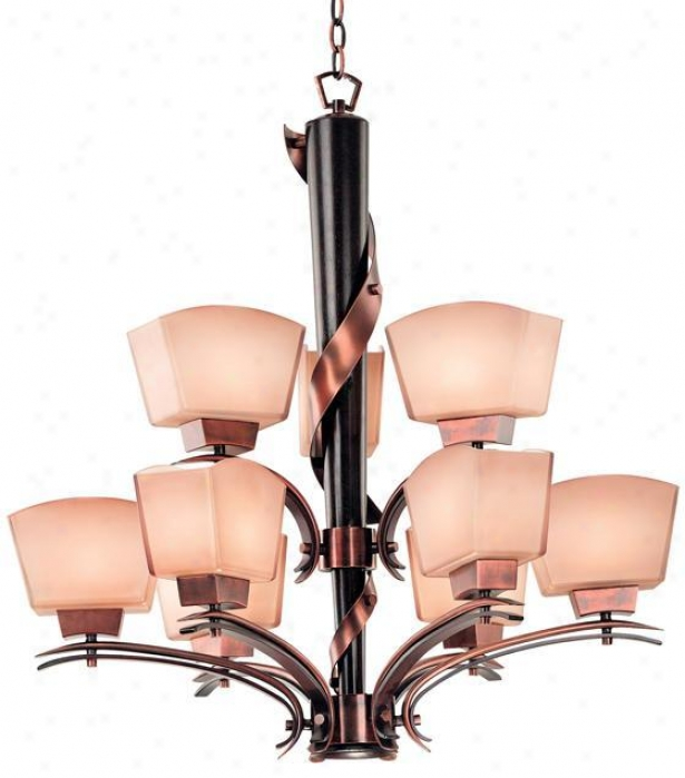 Oslo 9-light Chandelier - 9Illustration, Brown