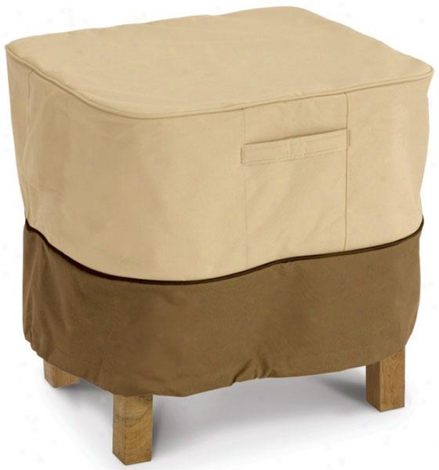 Ottoman/accent Side Table Cover - Large, Pbbl/earth/bark