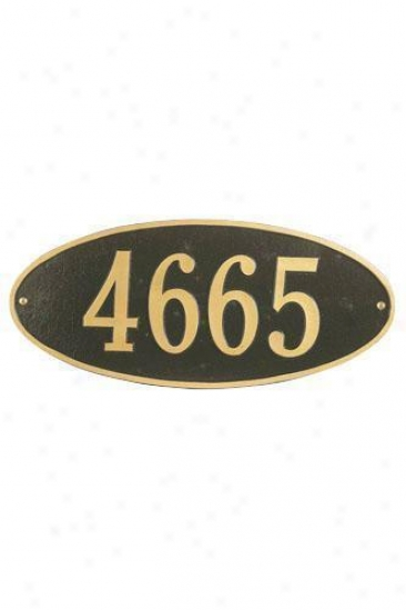 Oval One-line Petite Wall Address Plaque - Petite/one Line, Copper