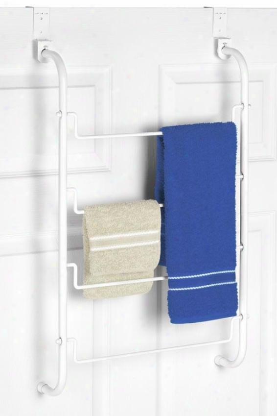 """""""over The Door Towel Rack - 26""""""""hx17""""""""wx4""""""""d, White"""""""