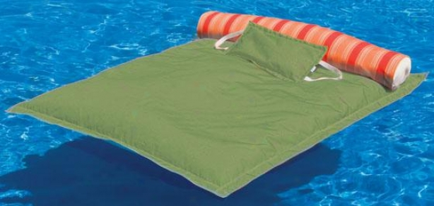 """oversized Pillowtop Pool Float - 74""""hx58""""w, Gingko Geen"""