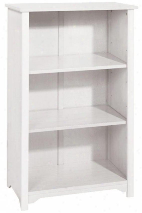 """oxford 24""""w 3-shelf Bookcase - Three-dhelf/24w, White"""