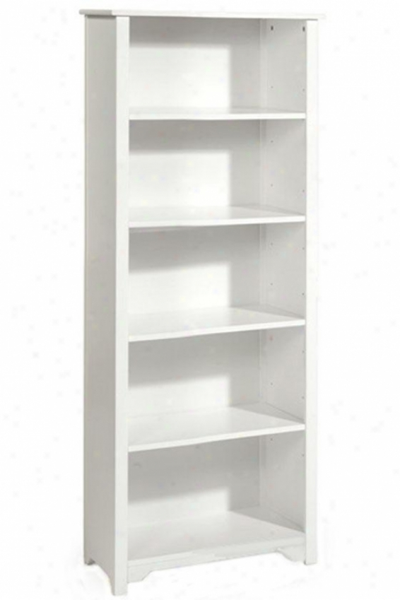 """oxford 24""""w 5-shelf Boikcase - Five-shelf/24w, White"""