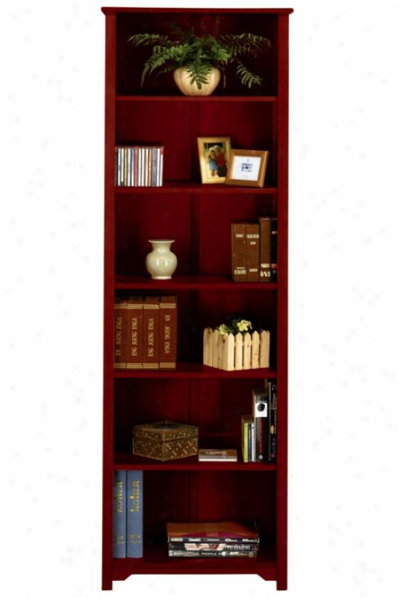 """oxford 24""""w 6-shelf Bookcase - Six-shelf/24w, Maroon"""
