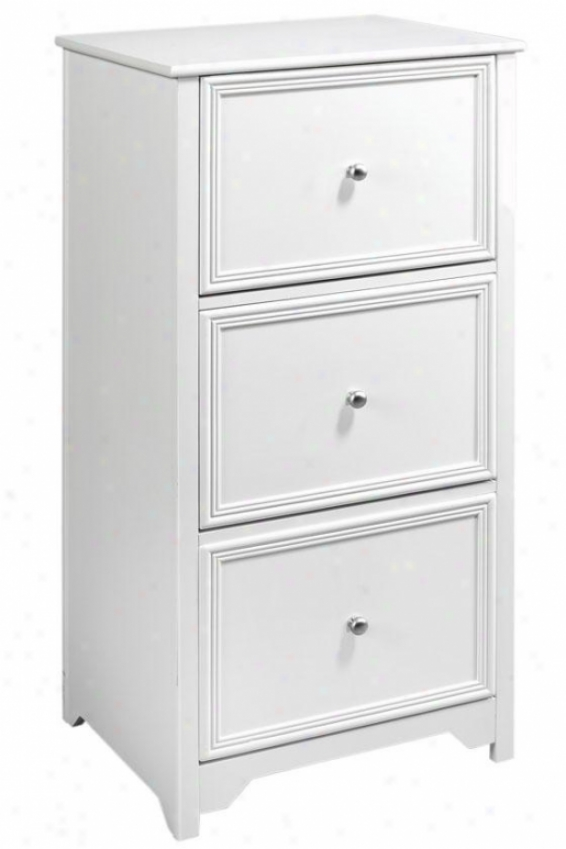 Oxford 3-drawer Letter-size File Cabinet - 3-drawer, White