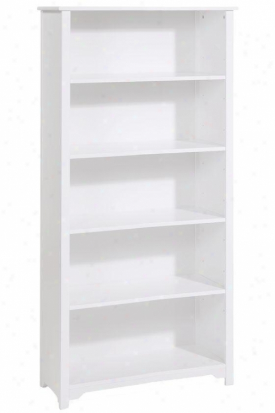 """oxford 36""""w 5-shelf Bookcase - Five-shelf/36w, White"""