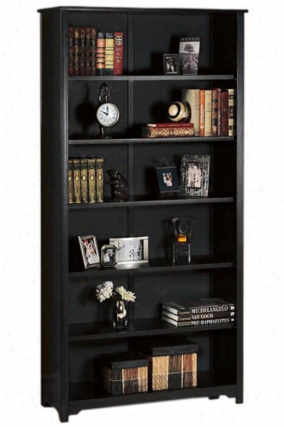"""""""oxford 36""""""""w 6-shelf Bookcase - Six-shelf/36w, Black"""""""