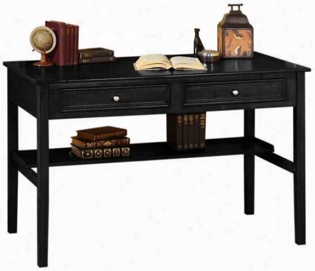 """oxford 48""""w Standard Writing Desk - Two-drawer, Black"""