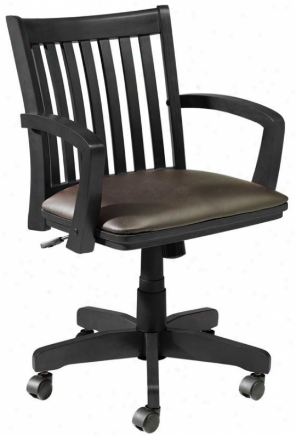 Oxford Adjustable-height Desk Chair - W/arms, Black