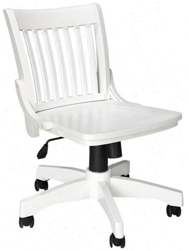 """oxford Adjustable-height Office Chair - 31""""hx20""""w, White"""