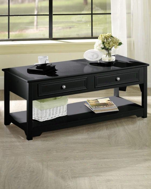 Oxford Coffee Table - 4-drawer, Black