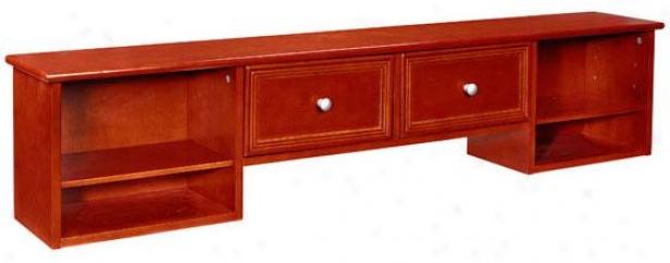 """""""oxford Desk 2-drawer Hutch - 56""""""""w, Maroon"""""""