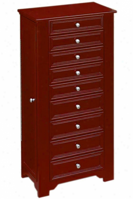 Oxford Jewels Armoire I - 8-drawer, Maroon