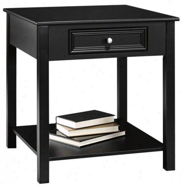 Oxford Square Accen5 Anywhere Table - 1-drzwer, Black